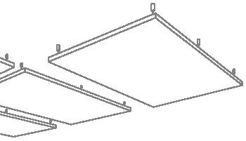 Deckenabsorber von AkustikKompetenz