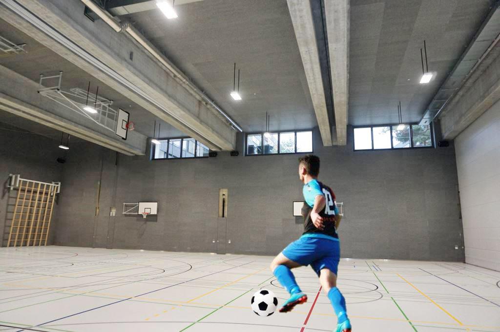 Wandabsorber in Sporthallen von AkustikKompetenz