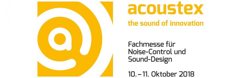 AkustikKompetenz auf der Fachmesse für Noise-Control und Sound-Design acoustex 2018